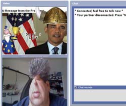 video effects on chatroulette, made by MagicCamera