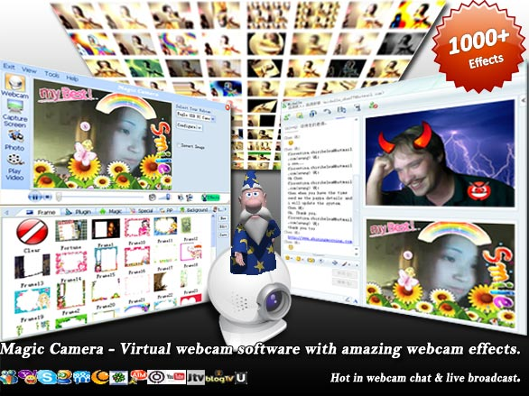 Webcam software to add a virtual webcam with 1000+ cool webcam effects