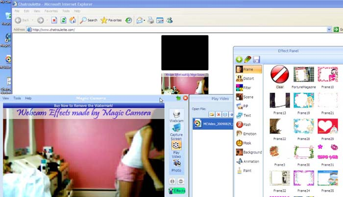 use maigc camera on ChatRoulette