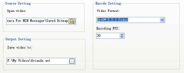 encode bitmaps to video