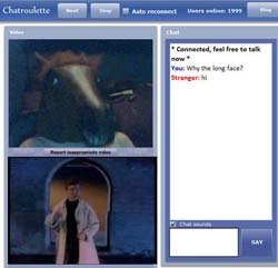 chatroulette fun picture made by MagicCamera