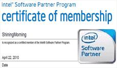 ShiningMorning - certified member of Intel software partner